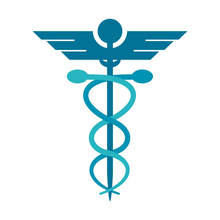asclepius rod icon image vector illustration design