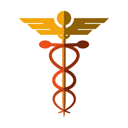 esculapio: asclepius rod icon image vector illustration design