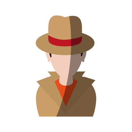 spy or investigator avatar icon image vector illustration design Stock Photo