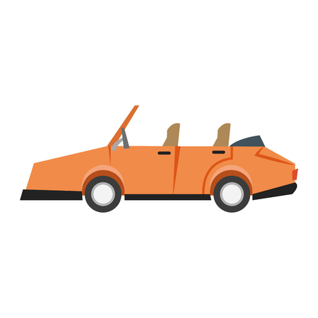 car sideview cartoon icon image vector illustration design Illustration