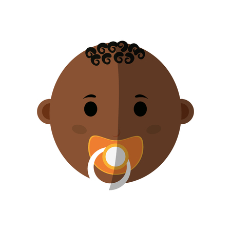 male baby with pacifier  icon image vector illustration design