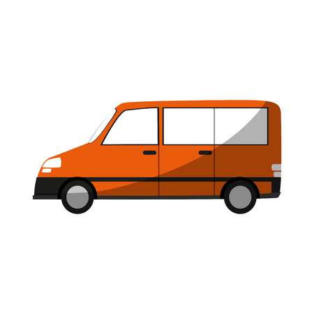car van  sideview cartoon icon image vector illustration design