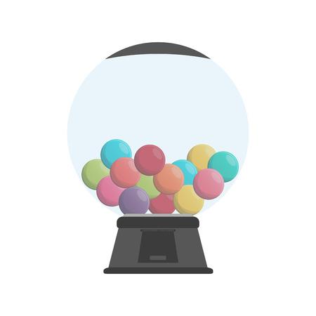 gum balls dispenser candy icon image vector illustration design