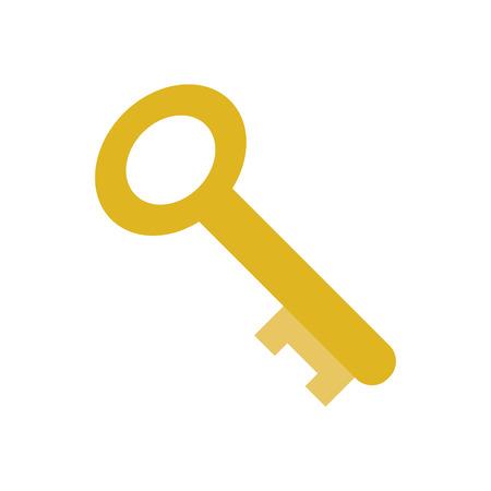 vintage key icon image vector illustration design Illustration