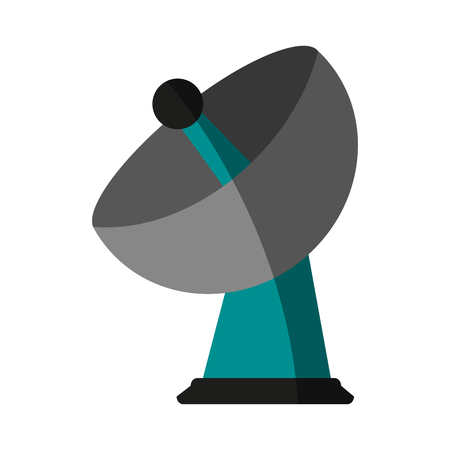 tv tower: satellite dish icon image vector illustration design