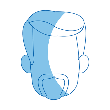male face avatar profile icon vector illustration