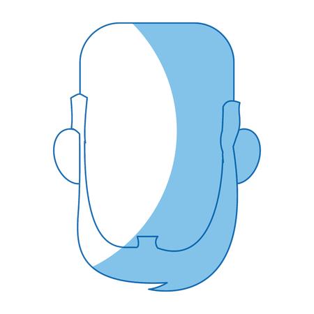 mannelijke gezicht avatar profiel pictogram vectorillustratie