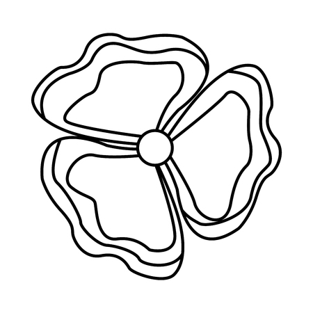 flower petals nature beauty decoration vector illustration