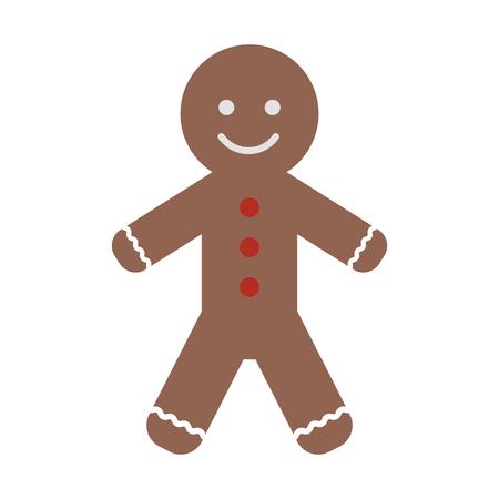 Lebkuchenmannplätzchen-Weihnachten bezogen sich Ikonenbildvektor-Illustrationsdesign