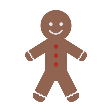 gingerbread man cookie christmas related icon image vector illustration design Illustration