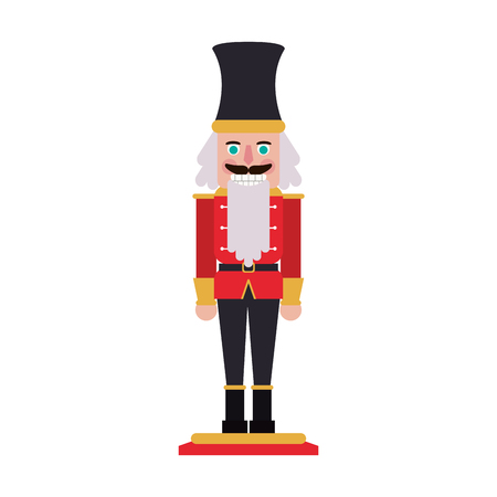 nutcracker figurine icon image vector illustration design
