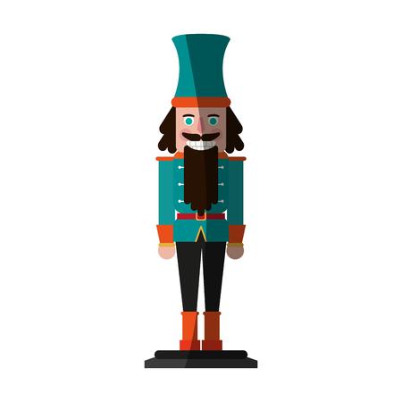 nutcracker figurine icon image vector illustration design