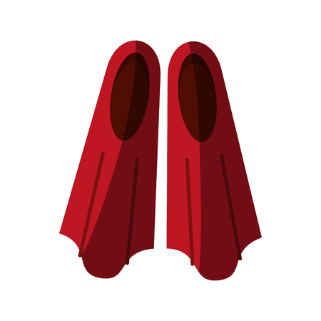 two flippers icon image vector illustration design Illustration