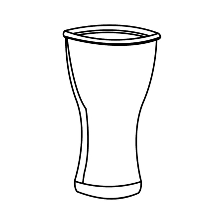water reflection: empty clean drinking glass cup icon vector illustration