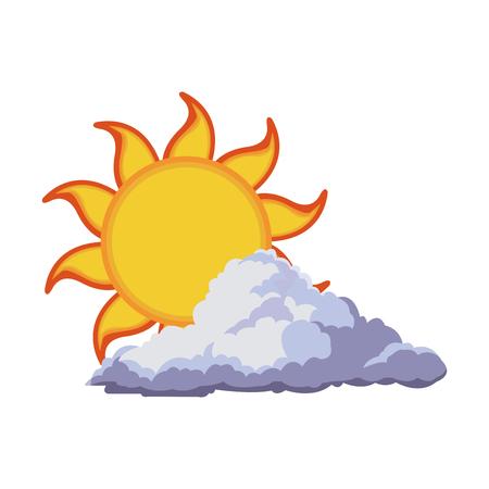 fiery: sun summer weather heat icon vector illustration