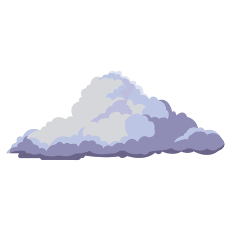 firmament: cloud floats cool single weather icon vector illustration Illustration