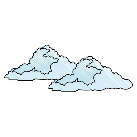 cloud floats cool single weather icon vector illustration Illustration