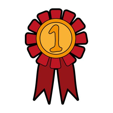 award or prize icon image vector illustration design Illustration