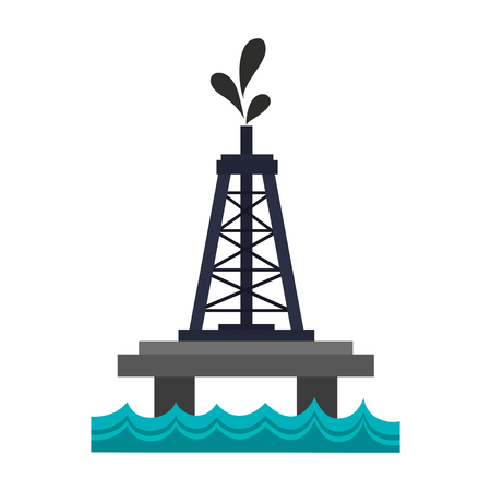 oceanic: oceanic extraction platform oil industry related  icon image vector illustration design Illustration