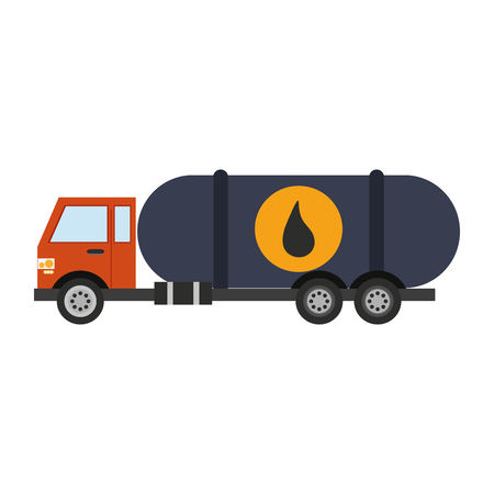 cistern truck oil industry related  icon image vector illustration design Illustration