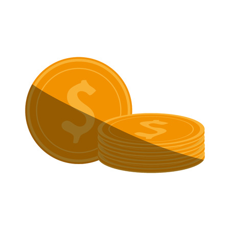 dollar coins  icon image vector illustration design Illustration