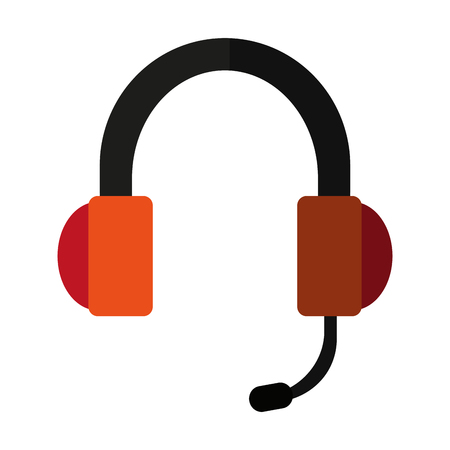 headset headphones and microphone  icon image vector illustration design