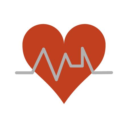 heart cardiogram icon image vector illustration design Illustration