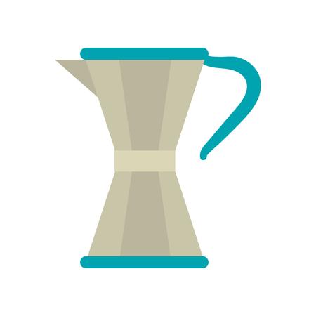 stove top maker coffee beverage icon image vector illustration design