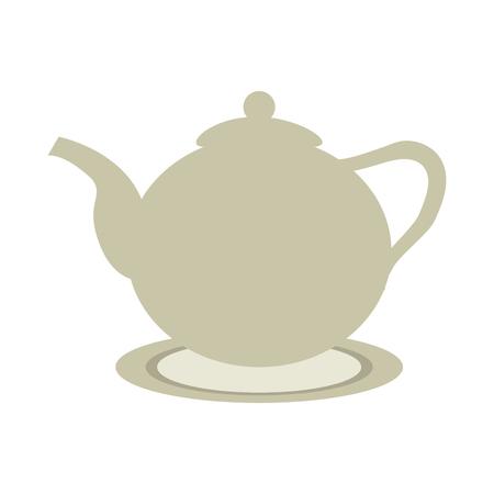 ceramic teapot or kettle icon image vector illustration design Illustration