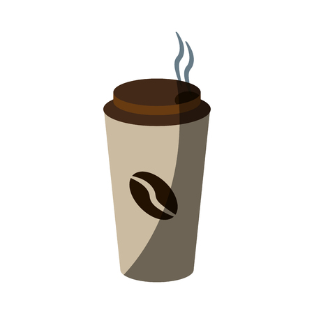 coffee beans: disposable cup coffee beverage icon image vector illustration design