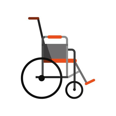 lifeline: wheelchair healthcare related icon image vector illustration design