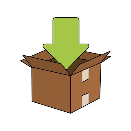 arrow box illustration icon vector design graphic