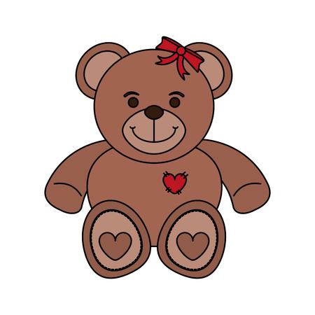 bear toy child vector illustration icon design graphic Illustration