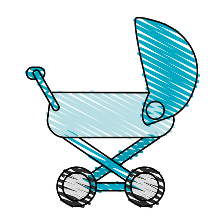 baby carriage illustration icon vector design graphic sketch