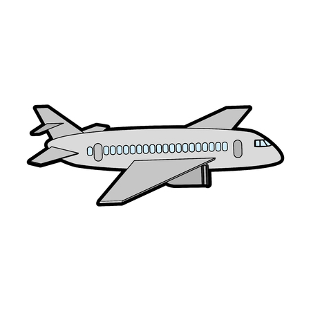 commercial airplane sideview icon image vector illustration design
