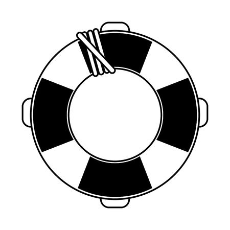 life preserver icon image vector illustration design  black line