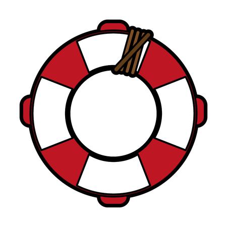 safety belts: life preserver icon image vector illustration design Illustration