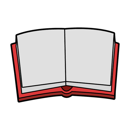 reader: open book with blank pages icon image vector illustration design