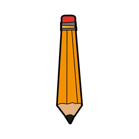 pencil with eraser icon image vector illustration design