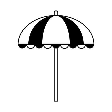 striped parasol icon image vector illustration design  black line Illustration
