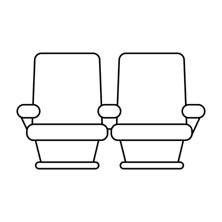 exclusive: theater seats icon image vector illustration design  black line