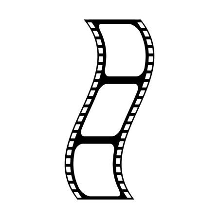 video tape segment icon image vector illustration design black line