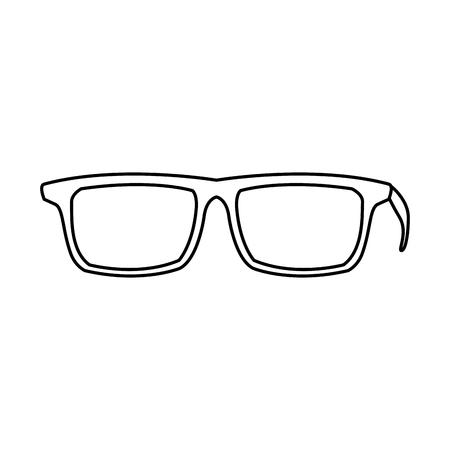 80aa42c6856 eye glasses hipster style frames icon vector illustration Stock Vector -  79761613