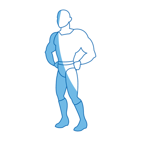 superhero wearing suit cape boots default image vector illustration Illustration