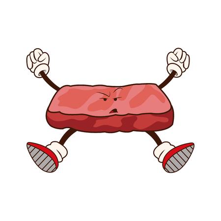 fried shrimp: slice salmon japanese food image vector illustration