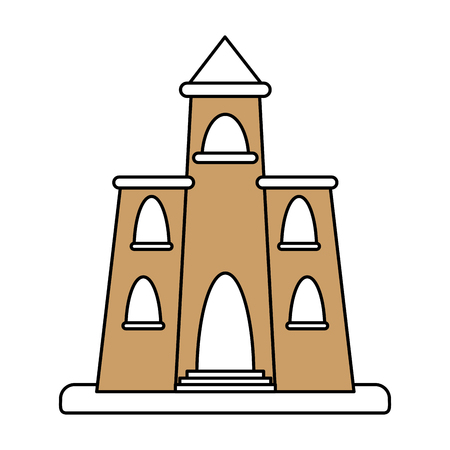 church illustration cartoon silhouette icon vector design graphic