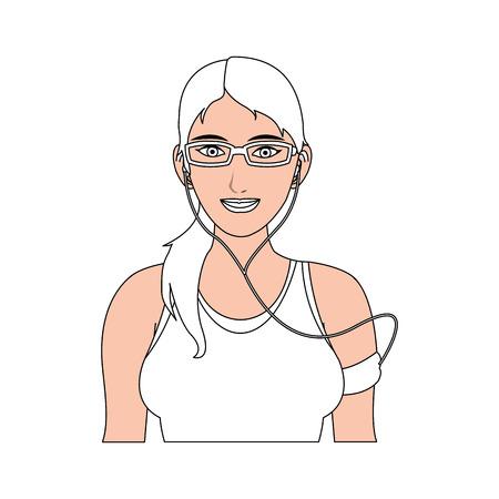 gril sport illustration cartoon icon design graphic vector
