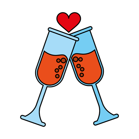 toast heart flat illustration icon vector design graphic