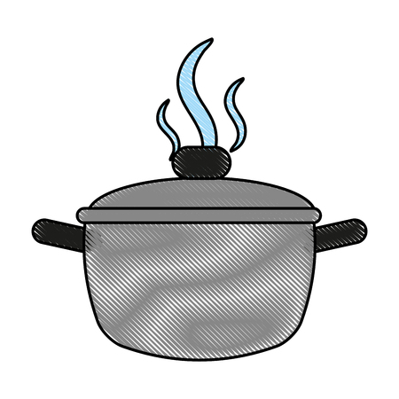 saucepan flat illustration icon vector design graphic scribble