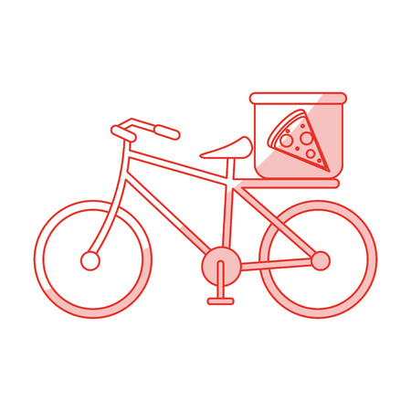 pizza bicycle shadow illustration icon vector design graphic
